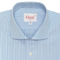 EXTRA_SLIM LIGHT-BLUE WITH WHITE STRIPE SHIRT