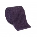 PURPLE KNITTED TIE
