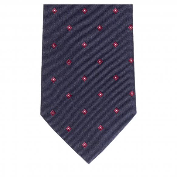 PATTERNED NAVY TIE