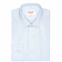 LIGHT BLUE SEMI PLAIN SHIRT WITH FRENCH COLLAR