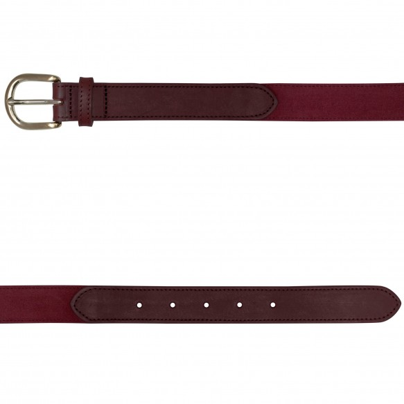 DARK-RED SUEDE BELT