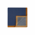 LIGHT BLUE HOUNDSTOOTH PATTERN POCKET-SQUARE