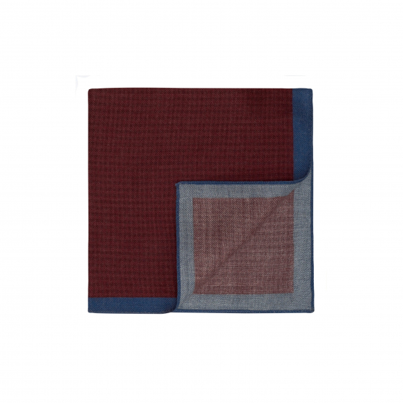 Burgundy Hound's Tooth Pattern Pocket-Square