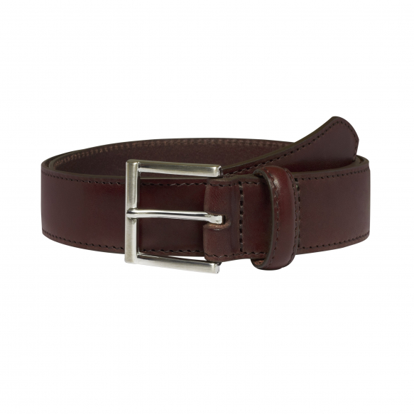 DARK-BROWN LEATHER BELT