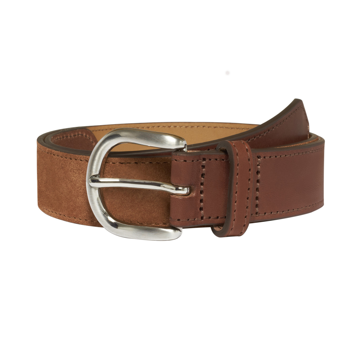 brown suede belt hast