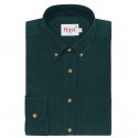 Green Cotton Corduroy Shirt