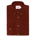 Rust Cotton Corduroy Shirt