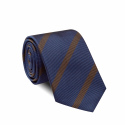 Brown Striped Blue Tie