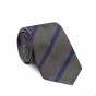 BLUE BROWN STRIPE TIE