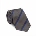 Cravate Grise Rayée Bleu