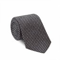HOUNDSTOOTH GREY AND BLUE TIE