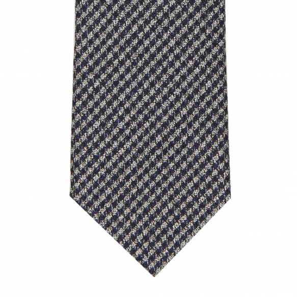 Hound's Tooth Grey and Blue Tie