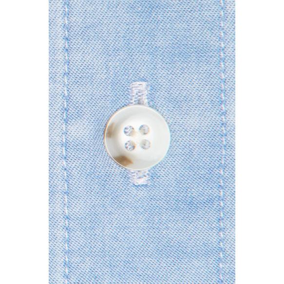 Chemise denim bleu clair