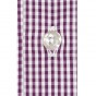 PURPLE GINGHAM SHIRT WITH FRENCH COLLAR
