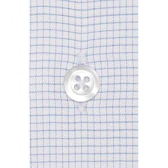 Chemise à Petits Carreaux Bleus
