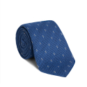 PATTERNED LIGHT BLUE SILK GRENADINE TIE