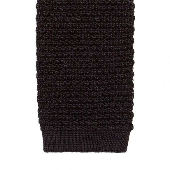 Cravate Noire en Maille