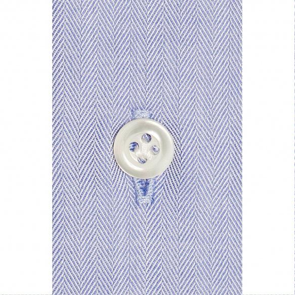 Premium Bleu Herringbone Shirt