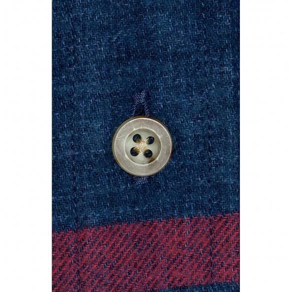 Chemise flanelle à grands carreaux bleu