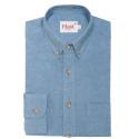 Blue puce flannel shirt