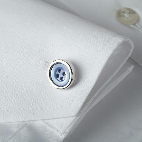 Boutons de Manchette Bleu Ciel