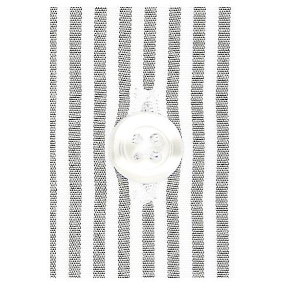 Extra-slim grey stripe shirt