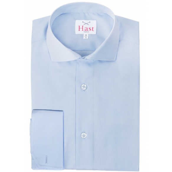 DOUBLE CUFF BLUE SHIRT