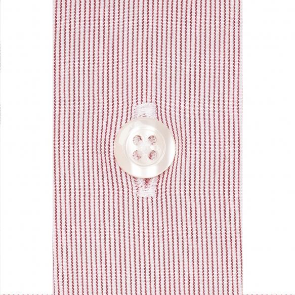 Extra-slim red semi plain stripe shirt