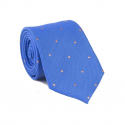 Blue with Orange Polka-Dots Tie