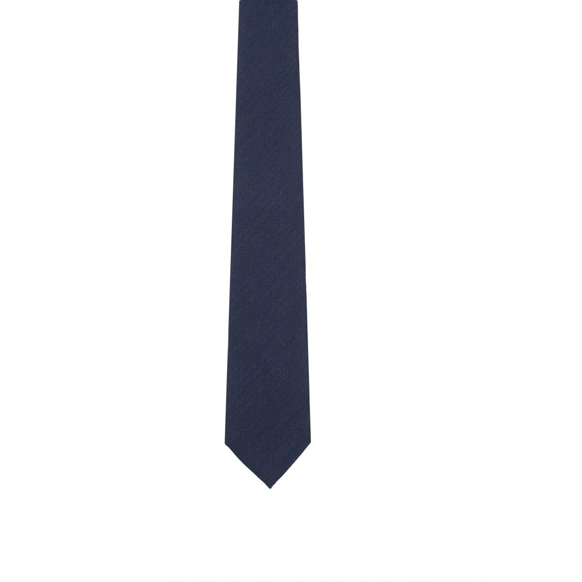 Cravate bleu marine fabriqu e la main en italie 70 - Couleur marine fonce ...