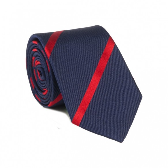 BLUE RED STRIPE TIE