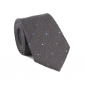Grey Tie with Blue Polka-Dots