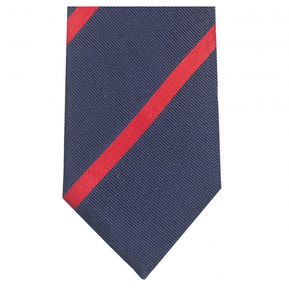 Blue Red Striped Tie