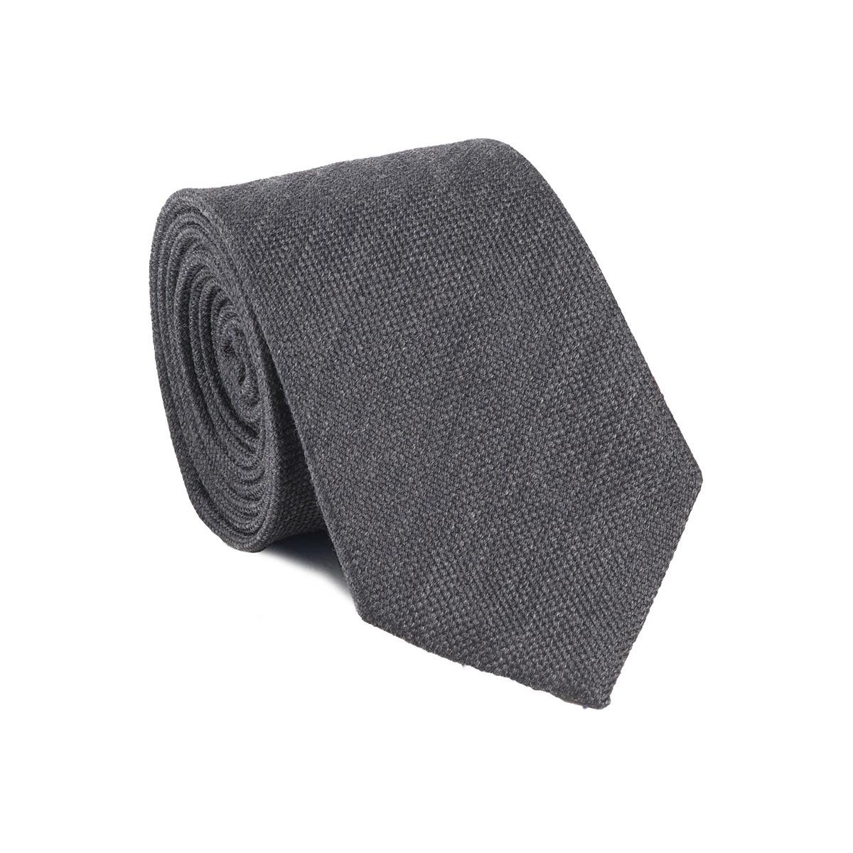 cravates grise fabriqu e la main en italie 70 laine et 30 soie. Black Bedroom Furniture Sets. Home Design Ideas
