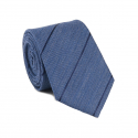 Striped Denim Blue Tie
