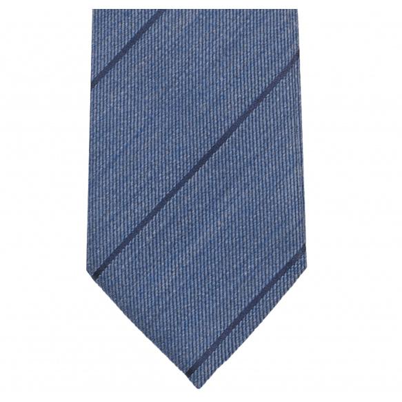 Striped Denim Blue Tie