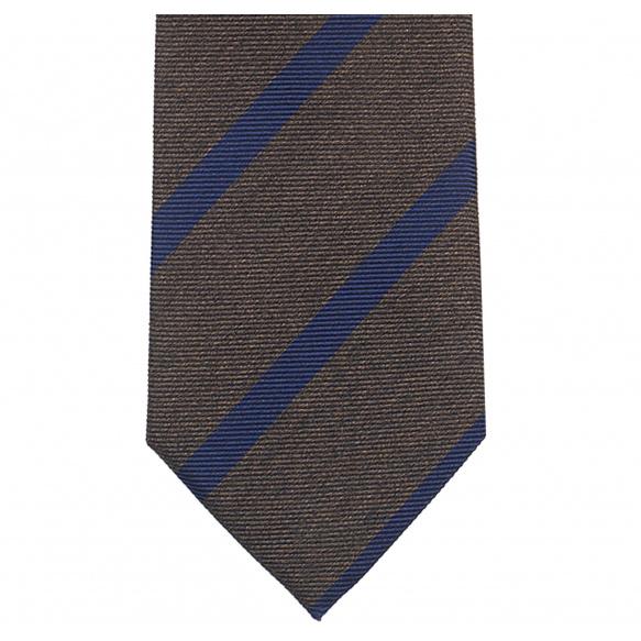 Striped Brown Tie