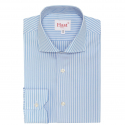 Extra-Slim Light-Blue Shirt with White Stripe