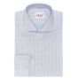 BLUE SHIRT WITH RED STRIPE