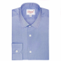 EXTRA-SLIM DARK BLUE SHIRT WITH FRENCH COLLAR
