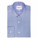 Chemise Extra-Ajustée Bleu Foncé à Col Français