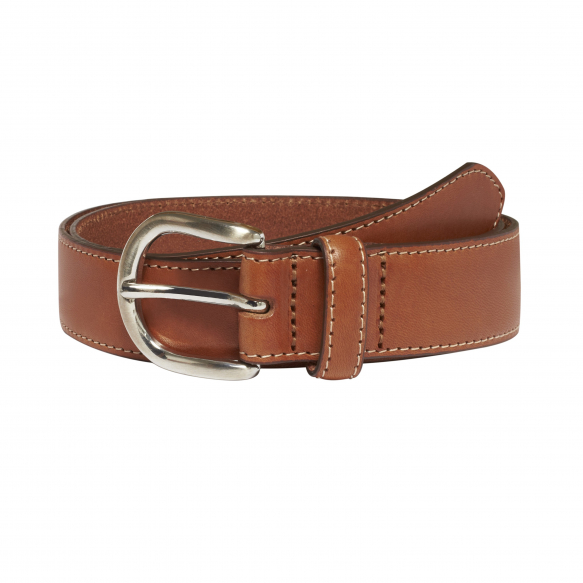 HAZELNUT LEATHER BELT