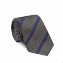 Blue Striped Grey Tie