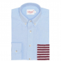 BLUE DARK-RED STRIPE POCKET CASUAL SHIRT