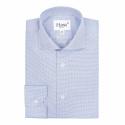 Premium Extra-Slim Pied de Puce Blue Shirt