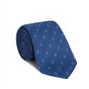 Cravate Grenadine de Soie Bleu Clair à Motifs