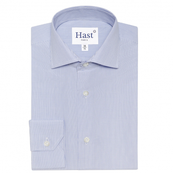 PREMIUM BLUE CHECK SEMI PLAIN SHIRT