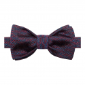 Blue and Pink Silk Bow Tie