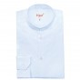 LIGHT BLUE SHIRT WITH MAO COLLAR