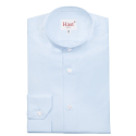 Light-Blue Shirt with Stand Up Collar